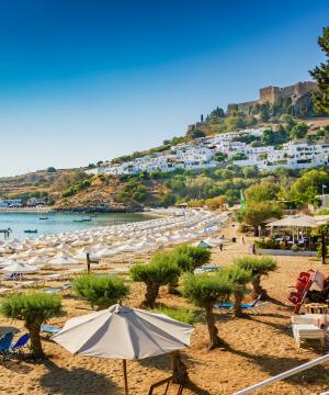 Kreeka, päikeseline Rhodose saar