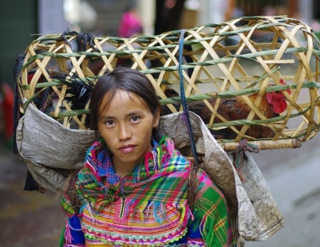 Tüdruk turul kanadega (Põhja-Vietnam, Sapa)