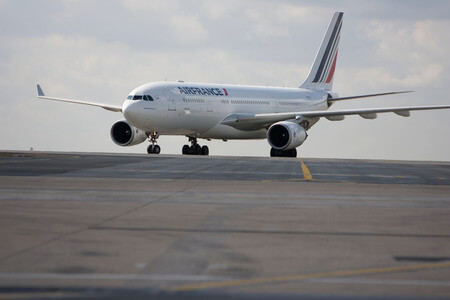 air france airbus a330 200 f gzcg taxiing at airport