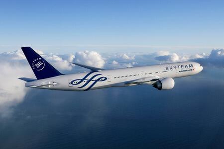 air france boeing 777 skyteam livery