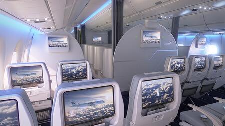 finnair airbus a350 xwb economy class cabin