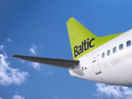 air baltic boeing 737 500 yl bbh tail