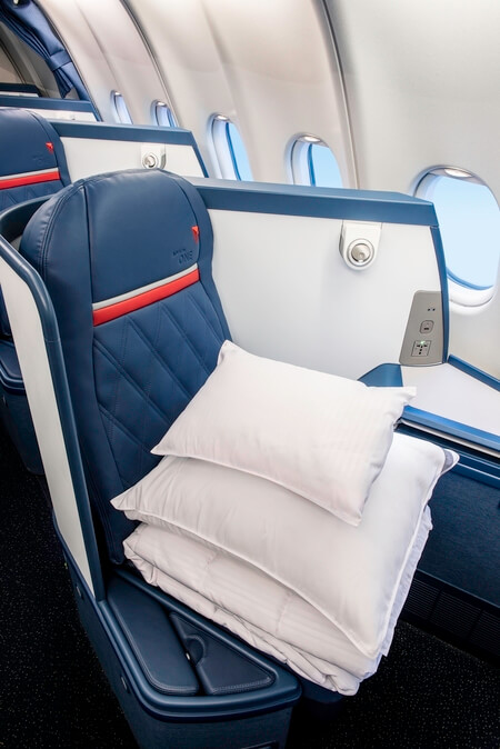 Delta Air Lines Airbus A330-300 Delta One full flat bed seat business class