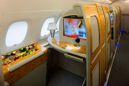 emirates airbus a380 first class private suite