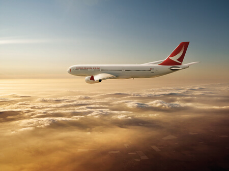 cathay dragon airbus a330 300 b hyq airborne flying to sunset above clouds rendering