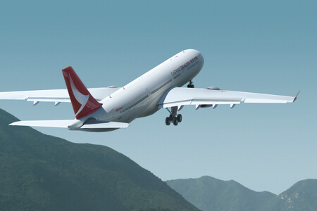 cathay dragon airbus a330 300 b hyq takeoff rendering
