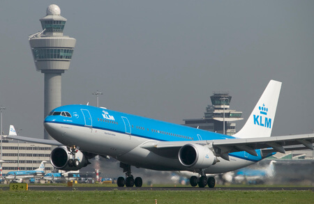 klm airbus a330 takeoff 1