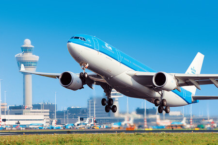 klm airbus a330 takeoff 2