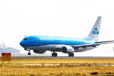 klm boeing 737 800 ph bxw takeoff