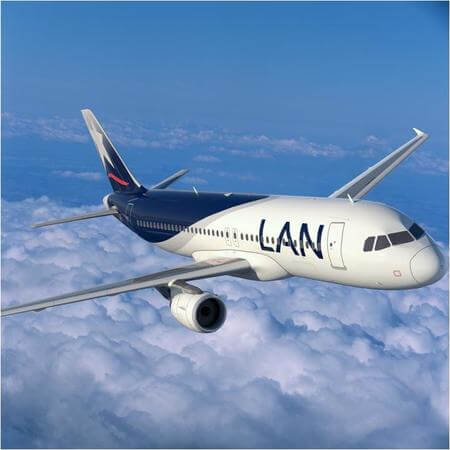 lan airlines airbus a320 airborne head on