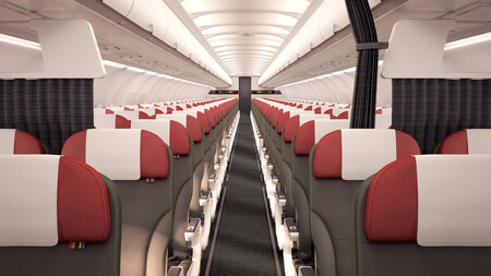 lan airlines airbus a320 tourist class cabin 2015