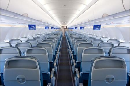lan airlines airbus a320 tourist class cabin