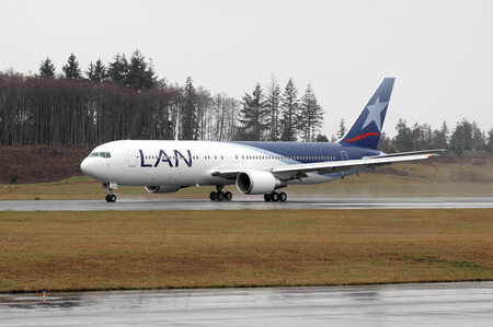 lan airlines boeing 767 300er cc cwf takeoff run
