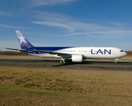 lan airlines boeing 767 300er cc cwf taxiing