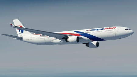 malaysia airlines airbus a330 300 9m mta airborne side view from below