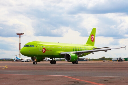 s7 airlines airbus a320 200 vq bdf on apron
