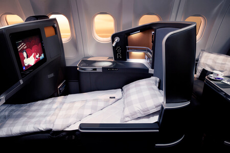 scandinavian airlines business class long haul