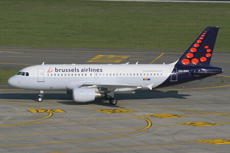 brussels airlines airbus a319 100 oo ssg