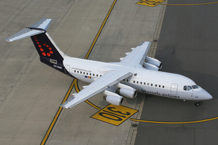 brussels airlines avro rj100 oo dwk