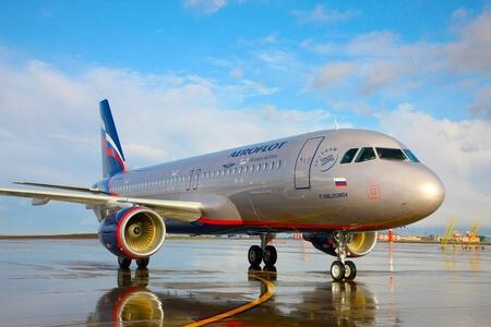 aeroflot airbus a320 200 vq blr apron wet