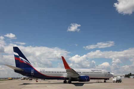 aeroflot boeing 737 800 next gen vq bwb apron sideview