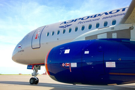 aeroflot sukhoi superjet 100 95 ra 89051 close up