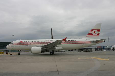Turkish Airlines Airbus A320 in historic livery