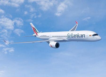 srilankan airlines airbus a350 airborne