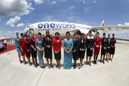 srilankan airlines oneworld joining event