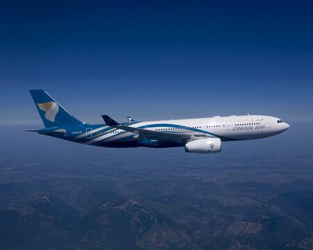 oman air airbus a330 200 a4o da airborne
