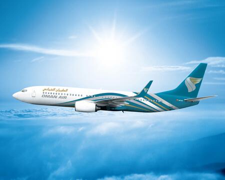 oman air boeing 737 800 a4o ba airborne